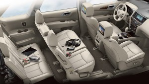 3rd row seating for the 2015 Nissan Rogue equipped with Family Package