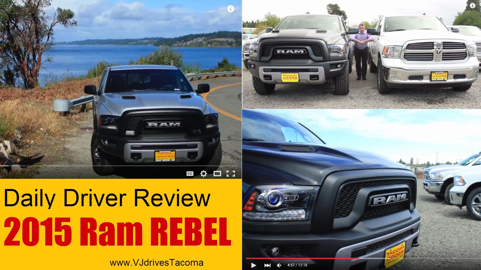 The Ram Rebel Pickup Won T Disappoint Tacoma Drivers Vj Drives Tacoma
