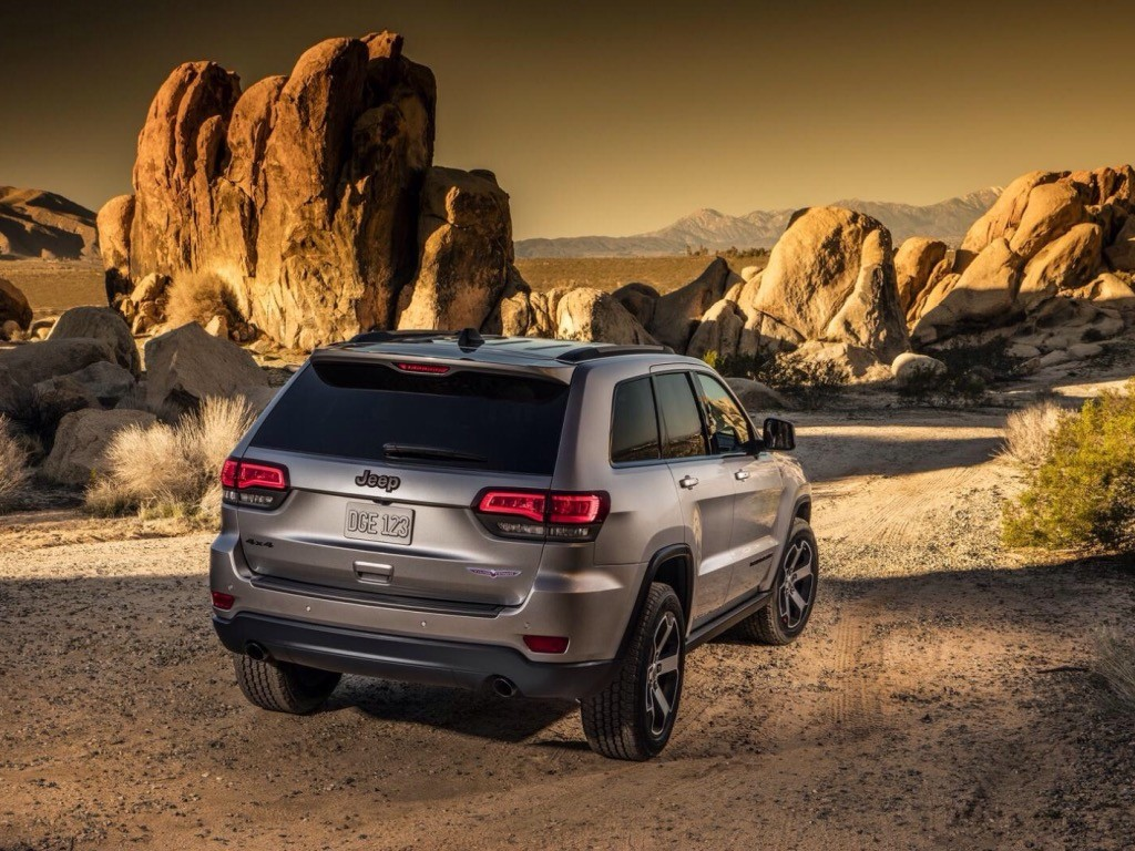 back view of the Jeep Grand Cherokee Trailhawk at Tacoma Dodge